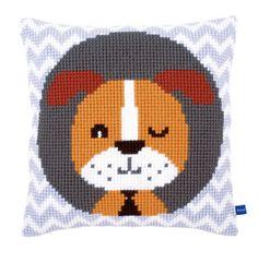 Front Cushion: Winking Dog
