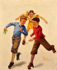 """Naughty Boys"" -- by Russell Sambrook (1891 – 1956, American)"