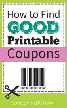 to Find Good Printable Coupons How to find good printable coupons! Plus, tips for printing and how to spot counterfeit coupons.How to find good printable coupons! Plus, tips for printing and how to spot counterfeit coupons. How To Start Couponing, Couponing For Beginners, Couponing 101, Extreme Couponing, Save Money On Groceries, Ways To Save Money, Money Tips, Money Saving Tips, Saving Ideas