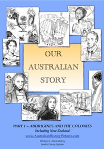 Australian History in pictures and narratives about the early explorers, first fleet, missionary and the road to freedom History Education, History Class, Teaching History, Teaching Geography, Teaching Resources, Teaching Ideas, Australia School, Australia Travel, First Fleet