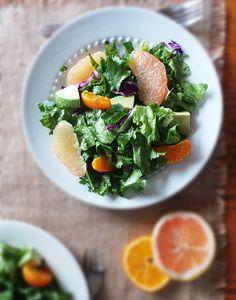 Winter Citrus Salad and Vinaigrette