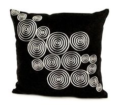 Another of our Bolivian Geo Spiral pillows hand embroidered in the Alto Plano regions of Bolivia, great for a contemporary design.