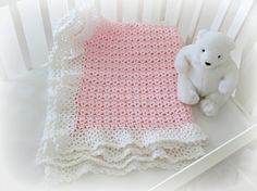 Baby Blanket Pattern ♥ Easy to make Crochet Baby Blanket by Deborah O'Leary Patterns