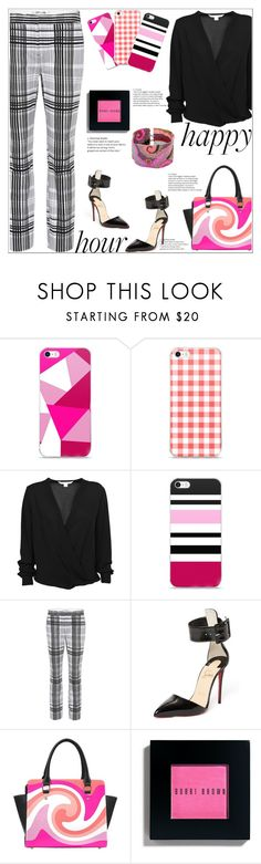 """Do Happy Hour In Style"" by atelier-briella ❤ liked on Polyvore featuring Diane Von Furstenberg, Christian Louboutin, Bobbi Brown Cosmetics, NOVICA, chic, Pink, Elegant, iPhonecases and happyhour"