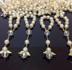 25 pcs Angel Pearl First communion favors Recuerditos Bautizo 25pz/ Mini Pearl Rosary Baptism Favors on Etsy, $18.99