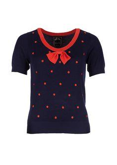 Edith & Ella Top Knit Red Dot