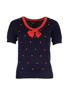 Edith & Ella Top Knit Red Dot