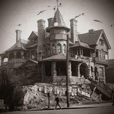 To celebrate Halloween, we combed through the archives searching for Atlanta's spookiest mansions. Sadly, none of the houses remain standing today. Houses in order of appearance: George L. Old Buildings, Abandoned Buildings, Abandoned Places, Spooky Places, Haunted Places, Abandoned Mansions, Mansions Homes, Places Around The World, Around The Worlds