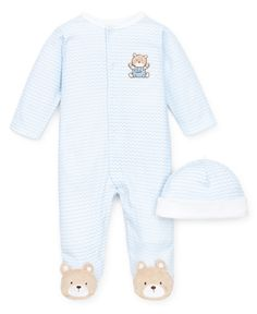 Little Me Baby Boys' 2-Piece Hat & Bear Coverall Set - Kids Baby Boy (0-24 months) - Macy's