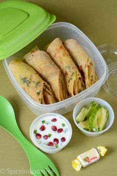 Kids School Lunch Box 4 - Aloo Paratha with Pomegranate Rait.- Kids School Lunch Box 4 – Aloo Paratha with Pomegranate Raita Kids School Lunch Box 4 Aloo Paratha with Pomegranate Raita - Lunch Box Recipes, Lunch Snacks, Baby Food Recipes, Indian Food Recipes, Cooking Recipes, Lunch Ideas, Kid Lunches, Snack Box, Dinner Recipes