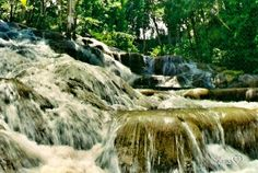"Dunns River Falls - Ocho Rios Jamaica. Walking up this waterfall was so much fun & a ""must do excursion"" if visiting Jamaica."