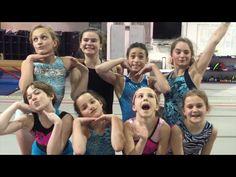 Annie at gymnastics with her friends