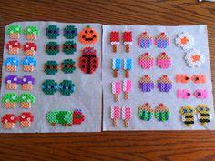 hama bead charms to make into earrings :D