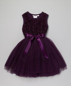 My 3 flower girls are wearing this dress! Purple Ruby Rosette Tutu Dress - love this color.