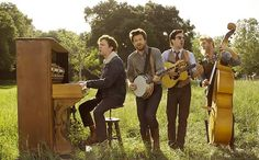 "Jason Bateman, Will Forte, Ed Helms, and Jason Sudeikis star in the music video for Mumford & Sons' latest single ""Hopeless Wanderer."""