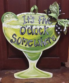 Summer fun Margarita door hanger by PaintingBoutiquellc on Etsy