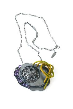 """Ford/Forlano  current work, """"Chip Necklace"""". AMERICAN CRAFT COUNCIL SAN FRANCISCO SHOW, August 8-10, 2014"""