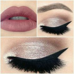 Great look for school without the eyeliner or the false lashes