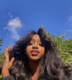 Beautiful Black Girl, Pretty Black Girls, Beautiful Women, Mix Baby Girl, Natural Hair Styles, Short Hair Styles, Hair Puff, Brown Skin Girls, Black Girl Aesthetic