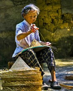 bamboo hat weaving #Tawian