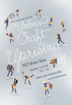 Sweet winter craft sale poster design