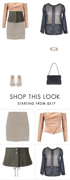 """Barragán."" by didjazaw ❤ liked on Polyvore featuring Michelle Mason, Balmain, Christopher Esber, Chanel, Cartier and Yves Saint Laurent"
