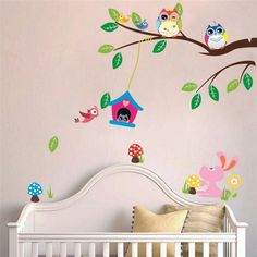 This mural is really cute for a baby's room :)