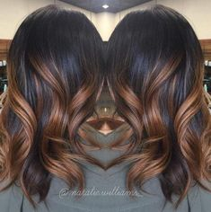 Image result for hair dark brown to caramel ombre
