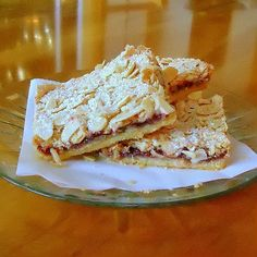 One Perfect Bite: Midnight Sun Cookies - My Recipe Rotation - Swedish Raspberry and Almond Bars Brownie Recipes, My Recipes, Sweet Recipes, Cookie Recipes, Dessert Recipes, Cookie Ideas, Dessert Ideas, Recipies, Cookie Desserts