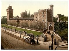 Cardiff Castle, Wales c1890s