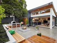 If you've been putting off updating your alfresco area, the question is: Why? Alfresco designs and ideas are plentiful – as our experts reveal here. Outdoor Fire, Outdoor Areas, Outdoor Rooms, Outdoor Living, Indoor Outdoor Furniture, Backyard Patio, Backyard Landscaping, Backyard Play, Alfresco Designs