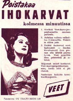 Veet-mainos/1952