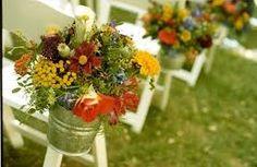 flowers in pales