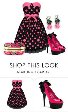"""""""Polka Dots"""" by sjlew ❤ liked on Polyvore"""