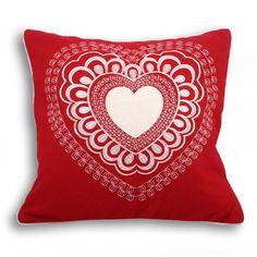 Valantine 45x45cm Cushion, Red