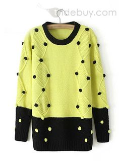 Beautiful Retro Color Block Round Neckline Cotton Polka Dots Sweater : Tidebuy.comhttp://www.tidebuy.com/product/Beautiful-Retro-Color-Block-Round-Neckline-Cotton-Polka-Dots-Sweater-10877683.html