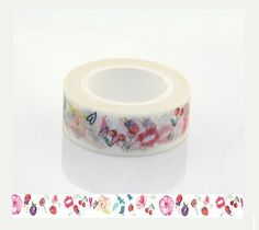 10M Cherry Kisses Washi Tape  Decorative Tape  Paper por WILDSOUL19