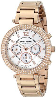 Gold watches for women Stuhrling Original Women's 888.03 Vogue Damsel Analog Display Swiss Quartz Ro