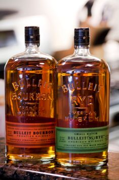 The Bulleit family of bourbon/whiskey. One of the finest. Proof that price and quality are different things entirely.