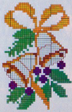Xmas Cross Stitch, Cross Stitch Christmas Ornaments, Cross Stitch Cards, Cross Stitch Borders, Cross Stitch Rose, Cross Stitch Flowers, Cross Stitching, Cross Stitch Patterns, Christmas Embroidery Patterns
