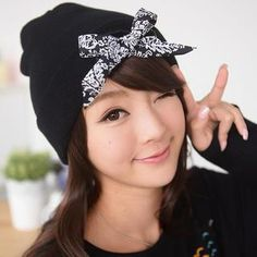 Bow Accent Beanie from #YesStyle <3 59 Seconds YesStyle.com