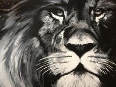 Jordan Ashley original - I painted this as a gift for someone that loved lions. Decoration, Lions, Creativity, The Originals, Gift, Animals, Decor, Lion, Animales