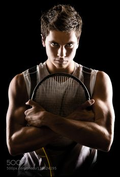 Tennis Player Posing Portrait by MarkUmbrella