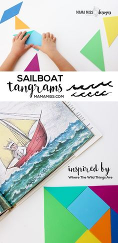 Take a ride on the open sea with 8 Sailboat Tangram Designs   @mamamissblog