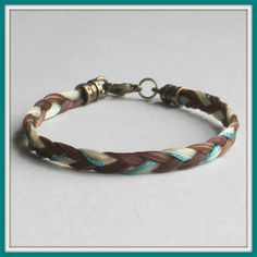 Bracelet with colored cord braided in