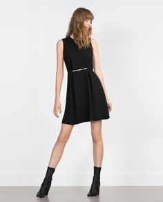DRESS WITH RECTANGULAR BUCKLE-View all-Dresses-WOMAN | ZARA United States