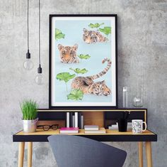 Carmen Hui Bathing Tigers Print