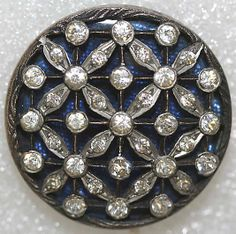 Date: Culture: French Medium: metal, paste Dimensions: [no dimensions available] Credit Line: From the Hanna S. Kohn Collection, via Wendy Copeland Button Art, Button Crafts, Antique Jewelry, Vintage Jewelry, Sewing A Button, Vintage Buttons, Metal, Bling, Jewels