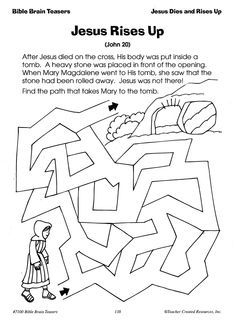 easter worksheets activities chuch google search - Fun Worksheets For Children
