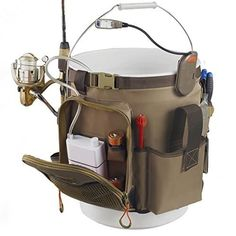 """Promising Review: """"This organizer is excellent! What the picture doesn't show is an additional pouch for extra tackle, line, spare reel, or snacks, like energy bars or sandwiches. The pouch also has a clear plastic lining that you can use to hold your license, maps, money, etc. There is a second pocket to hold another 3500 tackle tray (for a total of two trays), two smaller pockets for misc. items (I use one of them to hold my fish grips), a carabiner, a plier holster with a retractable…"""